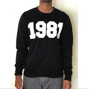 "H&M ""1981"" Print Crewneck sweatshirt"